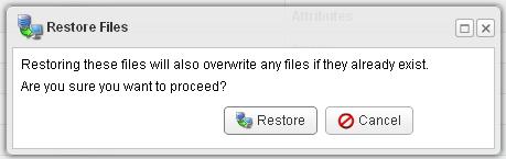 Restore Confirm R1Soft